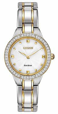 Citizen Eco-Drive Women's EX1364-59A Crystal Accents Two-Tone 28mm Watch
