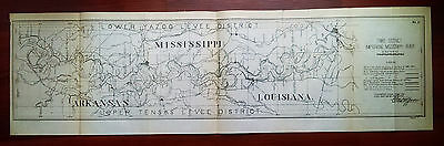 1905 3rd District Map Mississippi River Lower Yazoo Upper Tensas Levee Districts