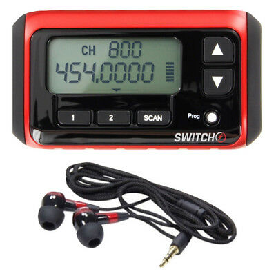 Racing Electronics SWITCH Micro-Receiver Scanner with Ear Buds