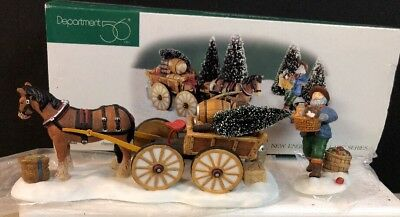 Dept 56 New England Village LOAD UP THE WAGON #56630 Horse Cart Mint MIB