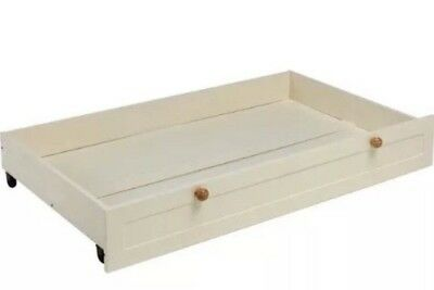 New Universal Cot Bed Rollaway Storage Under Drawer - White - Rrp £89.99 - Bnib