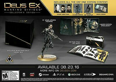 Deus Ex - Mankind Divided - Collector's Edition [PS4] New & Sealed!!