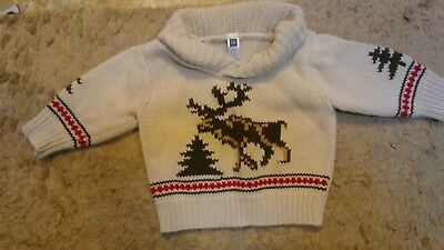 gap infant boys winter or ski sweater size 12 to 18 months 100 percent cotton