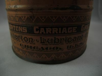 Allertons Carriage Grease Can Tin Lubricant