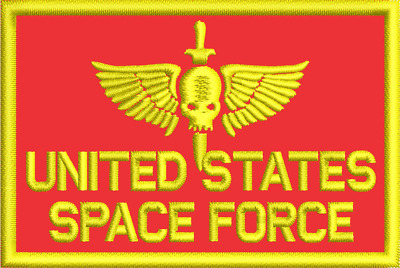 """United States Space Force Space Marines 3"""" x 2"""" Morale Patch"""