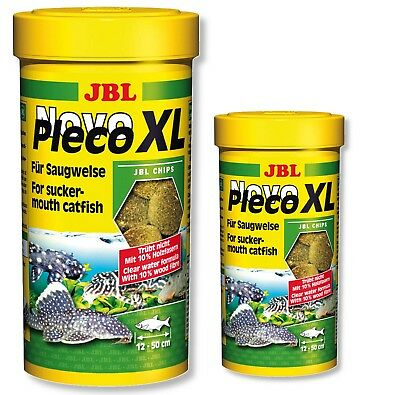 JBL NovoPleco XL Novo Pleco Algae Wafers Large Plecos 250ml 1000ml 1L