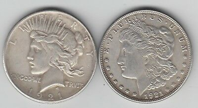 1 COIN with 2 Heads P/M Magic Trick Coin * TWO HEADED * Peace Morgan style heads