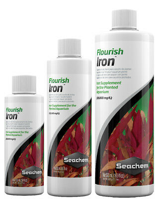 Seachem FLOURISH IRON Aquarium Plant Fertiliser Red Plants 100ml 250ml 500ml