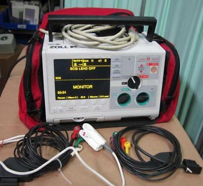 ZOLL M monophasic  12  Lead ECG   SPO2 Pacing aed analyze battery