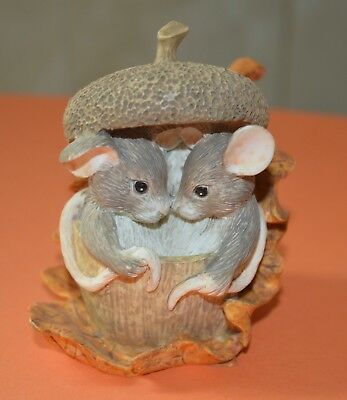 """Charming Tails """" ACORN BUILT FOR TWO"""" By FITZ AND FLOYD -85403"""