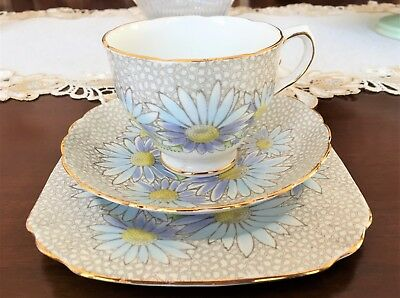 Vintage Tuscan Fine Bone China Made In England Pattern No C8003 Trio C1940-50's