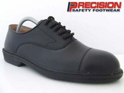 Precision Safety Shoes Black Oxford Gibson Steel Toe Cap Boots Work Executive