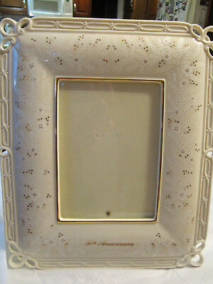 Lenox 50th Anniversary Ivory Ceramic Picture Frame