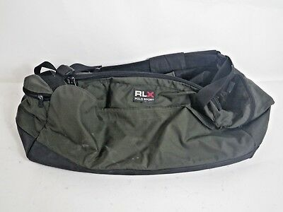 51a6152c5b5d ... germany vintage ralph lauren rlx polo sport duffle gym bag olive green  black rare 98927 ed305 ...
