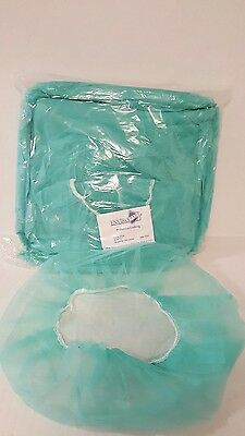 100 Pcs Disposable Hair Net Cap Bouffant Stretch Dust Cap