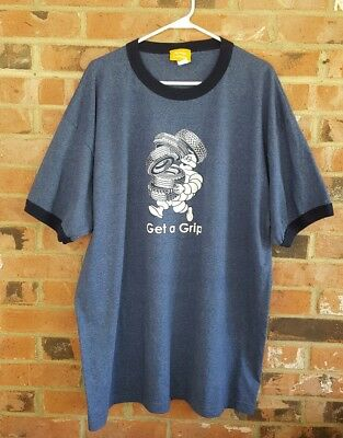 Michelin Man Get A Grip T Shirt 2XL Blue Michelin Collection Tires