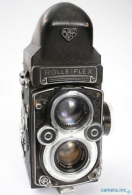 Rolleiflex White Face 3.5F Zeiss Planar 75mm 3.5 TLR 120 Camera  *UGLY AS-IS* NR