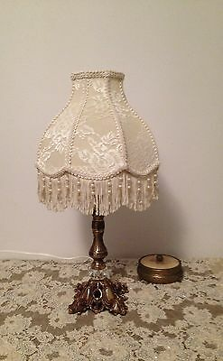 ROMANTIC VINTAGE TABLE LAMP hand crafted new shade