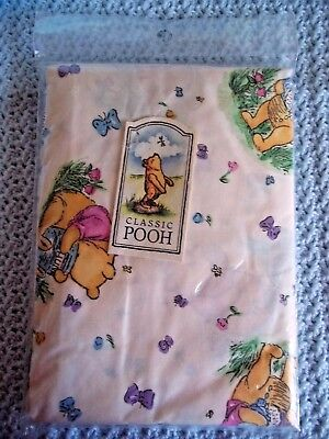 CLASSIC WINNIE THE POOH & His Hunny Pots Fitted Crib SHEET ECRU/Multi-Color NEW