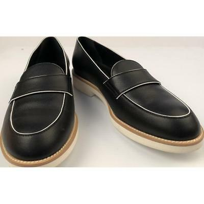 Tod's Black Leather Ladies Loafers Shoes, Made in Italy, Women's Size 40