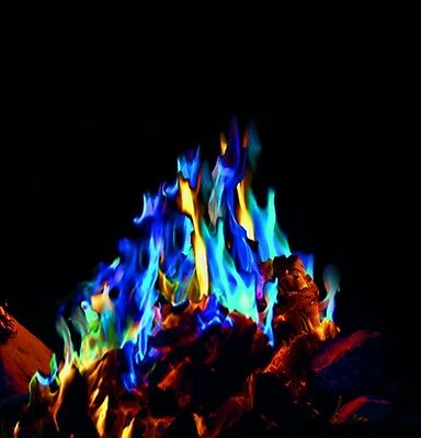 MYSTICAL FIRE 20 pkts - Magical Fire Colourful Color Changing Flames Campfire