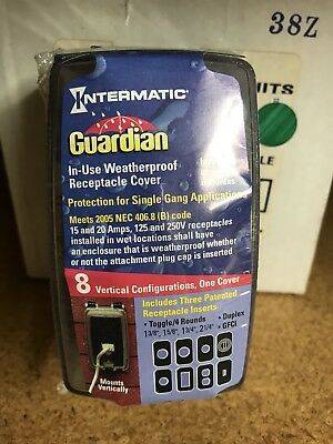 (6) Pk of Intermatic WP1000C Guardian Series Single Gang Weatherproof Plug Cover