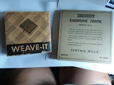 2 Vintage Weave It Wooden Loom With Instructions In Box 1999