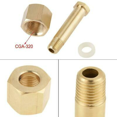 Brass CGA-320 CO2 Carbon Dioxide Regulator Inlet Nut and Nipple W/ Washer