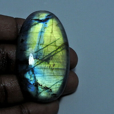 Natural Multi labradorite Cabochon Gemstone Oval 140.60cts.;#96361