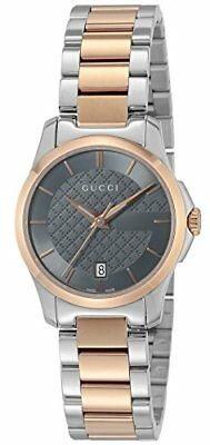 f1adc8f8cc0 Gucci Quartz G-Timeless Black Dial Ladies Watch Two Tone Stainless Ya126527  New