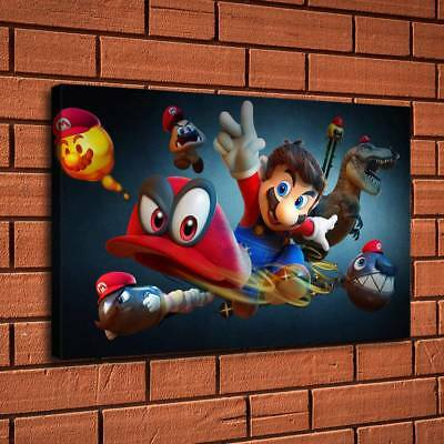 """12""""x20""""Super Mario Monster Home Decor HD Canvas Print Picture Wall Art Painting"""