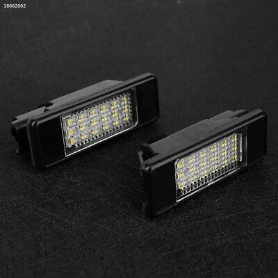 A7057EE 2Pcs 12V Auto Car Vehicle 18 LED License Plate Light For Peugeot 106 508