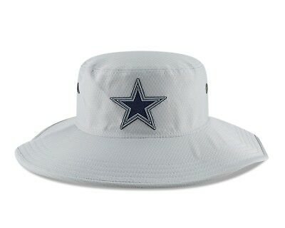 739db3ecd New Era Dallas Cowboys New Era Gray 2018 NFL Training Camp Panama Bucket  Hat 1 ...