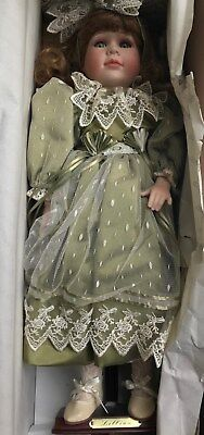 Genuine Alberon Porcelain Doll Lillian from England - Never removed from box