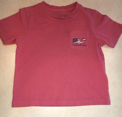 Vineyard Vines 2T Toddler Boys Pocket T-Shirt Whale American Flag Cute!