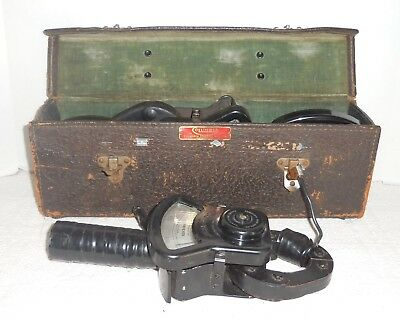 Vintage Columbia Electric Mfg Tong-Test Ammeter 2 Tongs & 4 Movements in Case