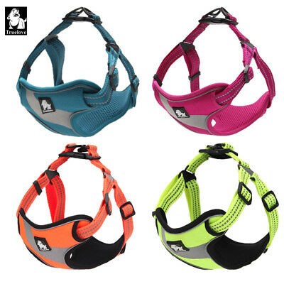 Genuine Truelove Adjustable Easy On Dog Harness 3M Reflective Padded Dog Harness