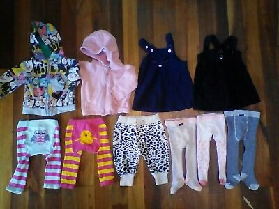 Bulk Baby Girls Clothes Size 0 6-12 months. Annabel Trends, Owl, Bonds & more