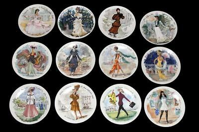 Women of the Century Plates D'Arceau-Limoges Complete Set with Boxes and COA
