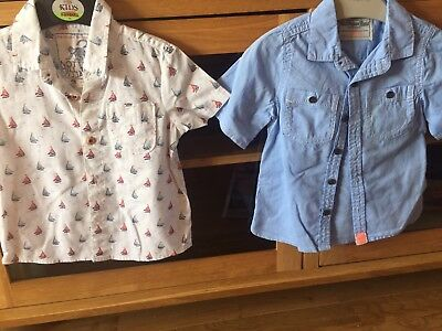 Two Boys Short Sleeve Shirts Next and Monsoon 1-5-2