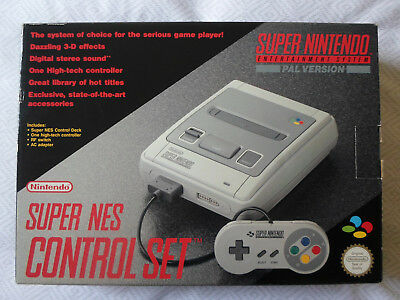 Super Nintendo Boxed Console - Snes Aus Pal - New Never Used In Factory Plastic
