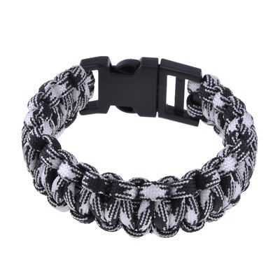 Paracord Parachute Rope Bracelet Wristband Survival Hiking Climbing