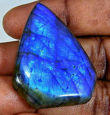 Natural Blue labradorite Cabochon Gemstone Fancy 69.50cts.;#44856