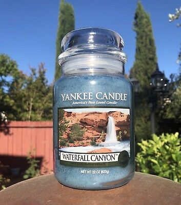 ☆☆Waterfall Canyon☆☆ Large Yankee Candle Jar☆ White Label International Ship!