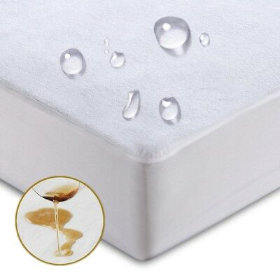 Waterproof Mattress Protector Cover Pad Fitted Bed Sheet Breathable Anti-Dust