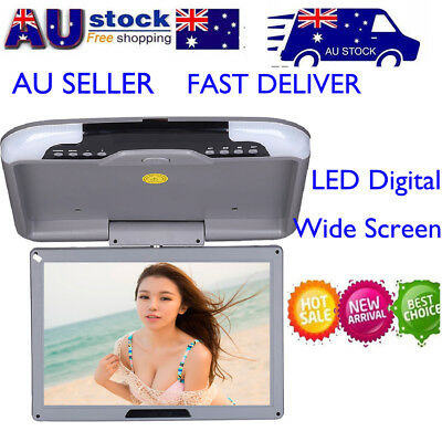 13 Inch LCD TFT Car Ceiling Monitor Flip Down Roof Mount LED Digital Wide Screen