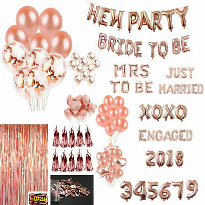 Hen Party Sash Rose Gold Foil Latex Balloon Set Helium Bride To Be Wedding Party