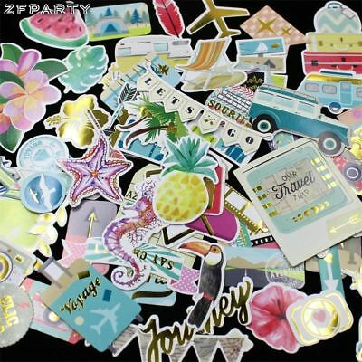 70pc Our Travel Cardstock Die Cuts Scrapbooking Happy Planner Card Making