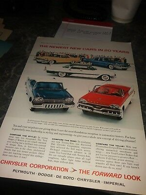 lot 60 dodge ads plymouth chrysler 300 fury photo poster vintage 54 60 57 55