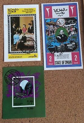 State of Oman 3 Commemorative Stamps (1970's)